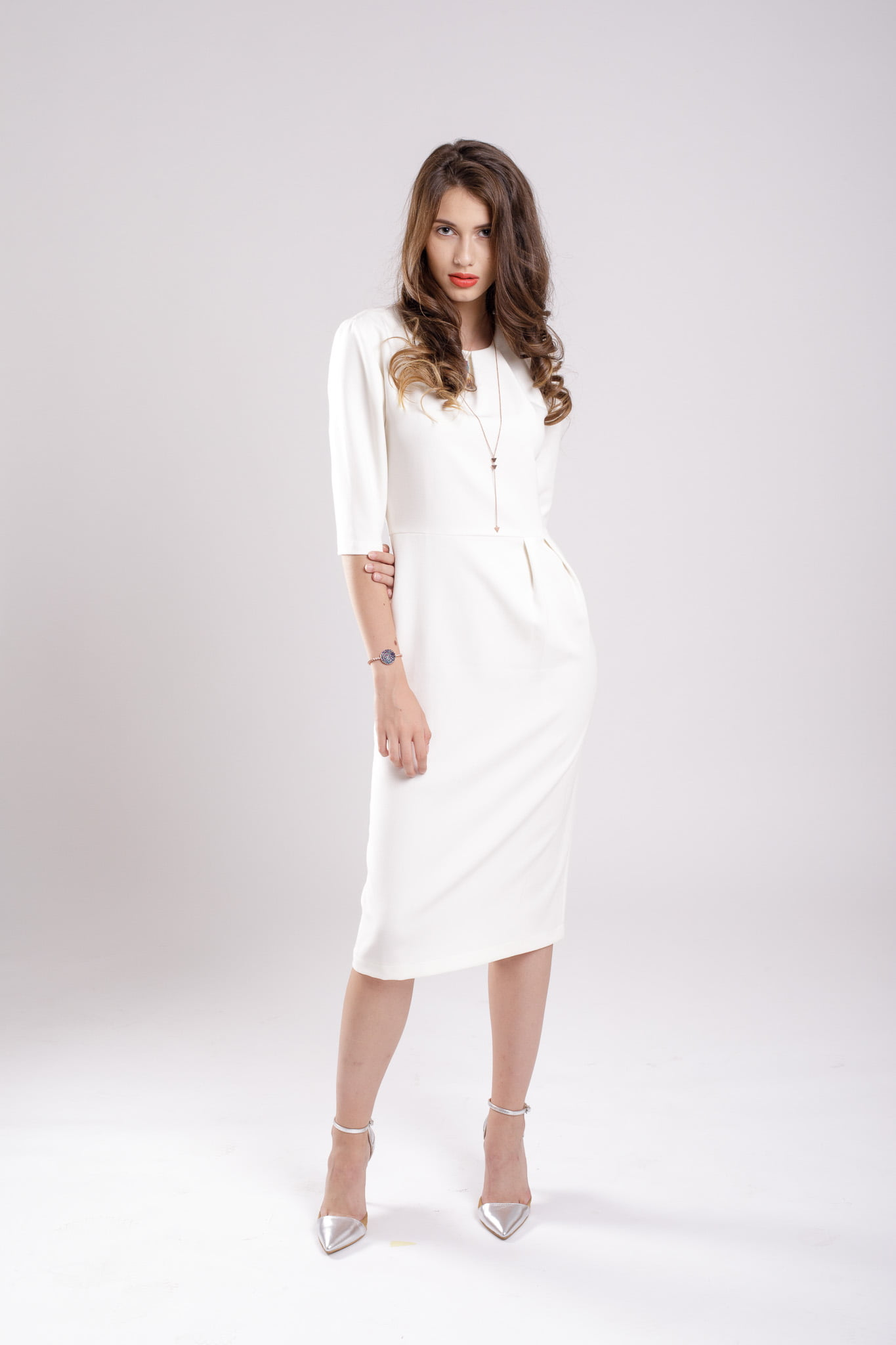 rochie conica white dress