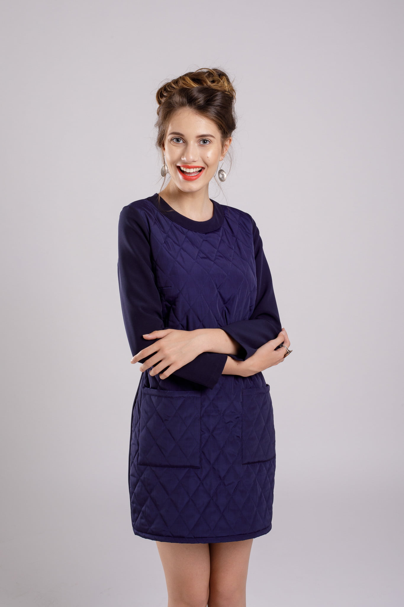 rochie dreapta navy dress