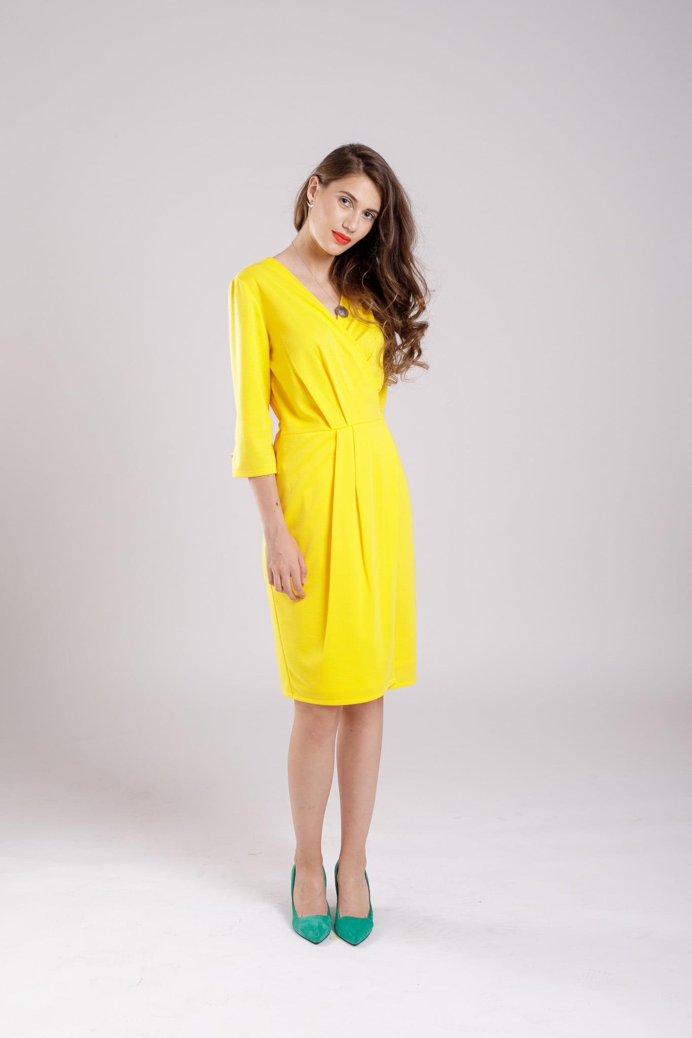 rochie petrecuta yellow dress