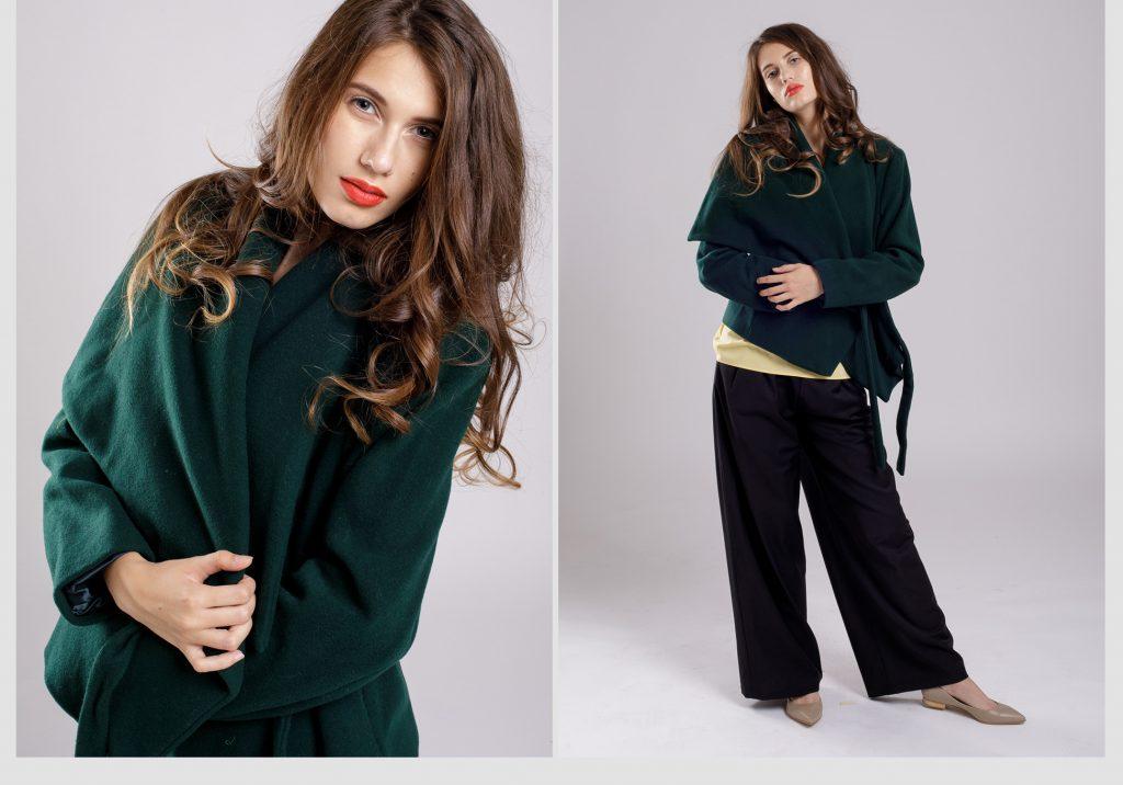 jacheta verde cu cordon