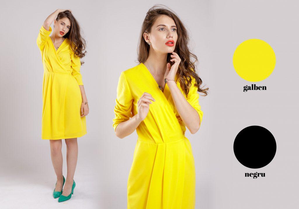 combinatie provocatoare galben negru