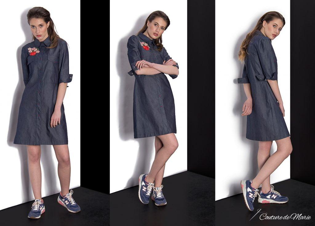 rochia camasa din denim