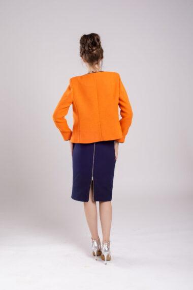 jacheta scurta orange coat