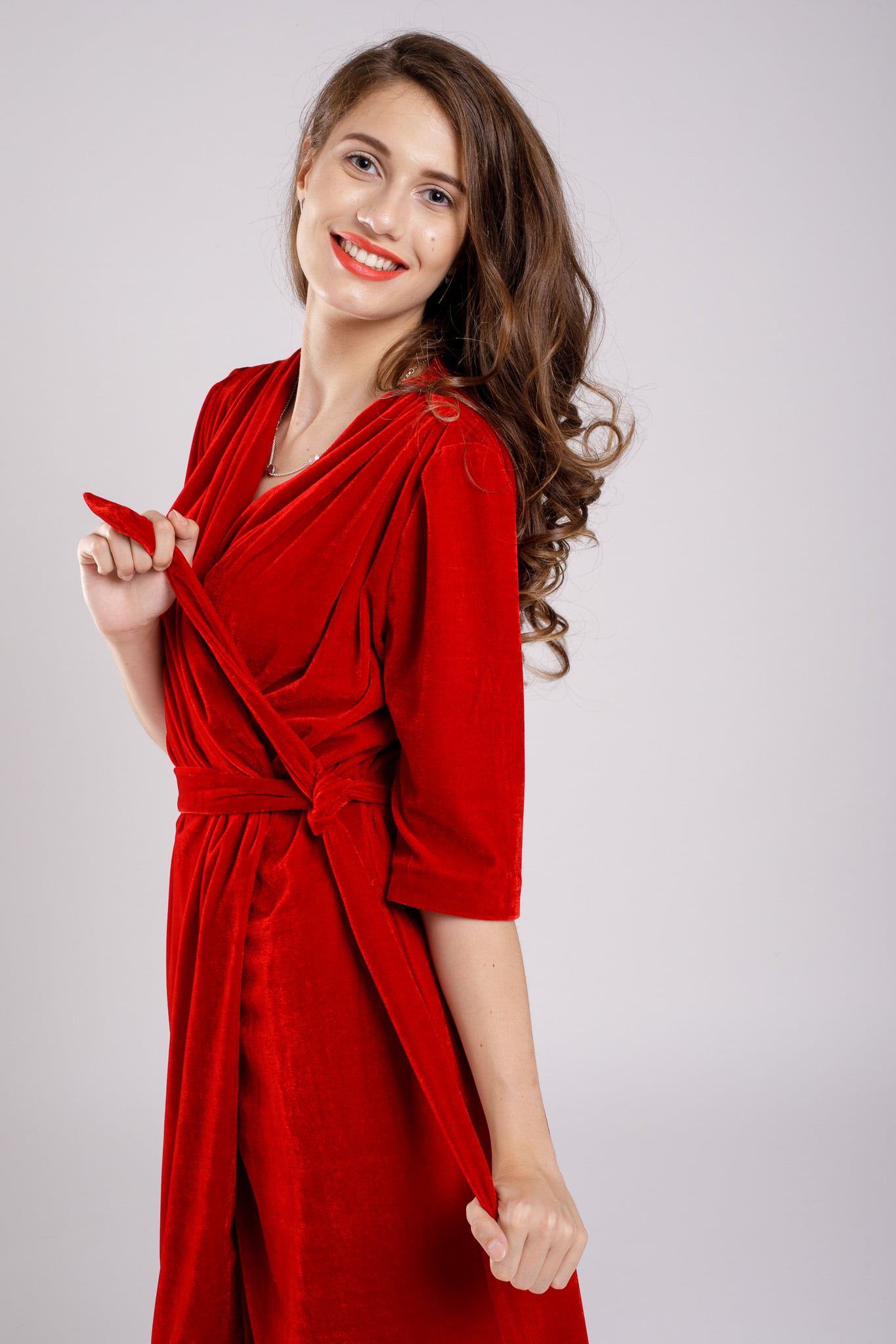 rochie catifea party red