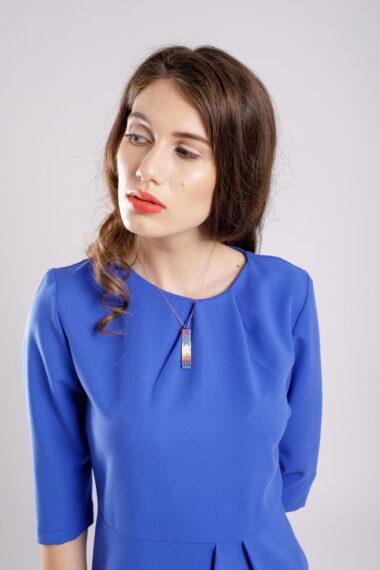 rochie conica blue dress