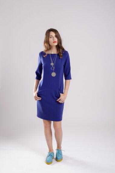 rochie dreapta albastra bluealert
