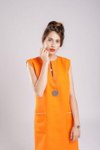 rochie dreapta orange dress