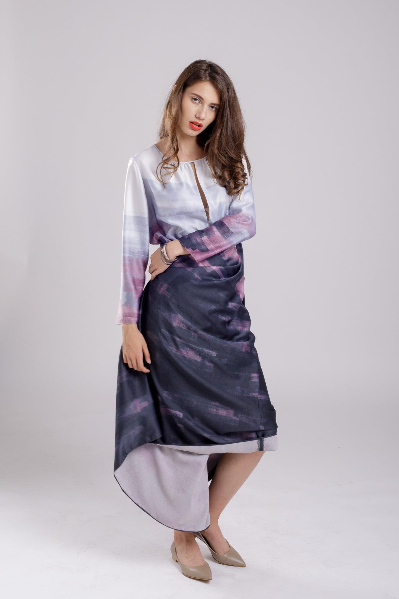 rochie maxi insta purple