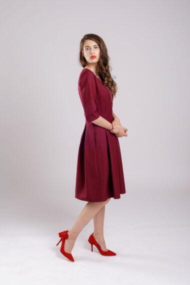 rochie pliuri burgundy dress