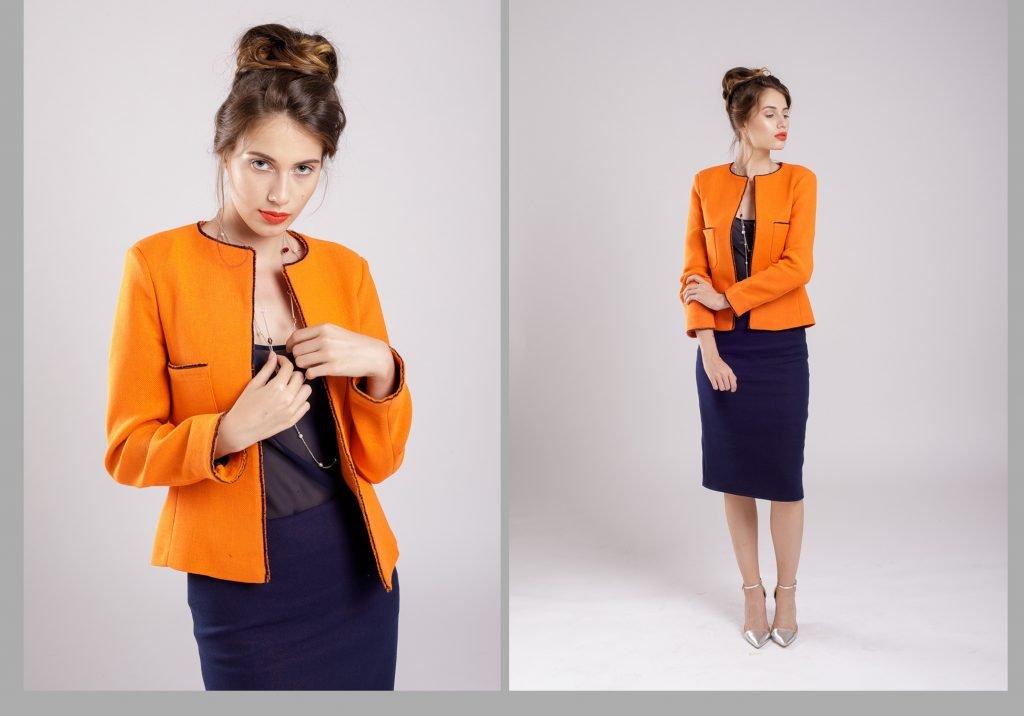 jacheta portocalie un plus de personalitate