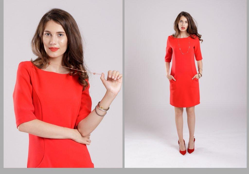 rochia rosie vedeta sezonului
