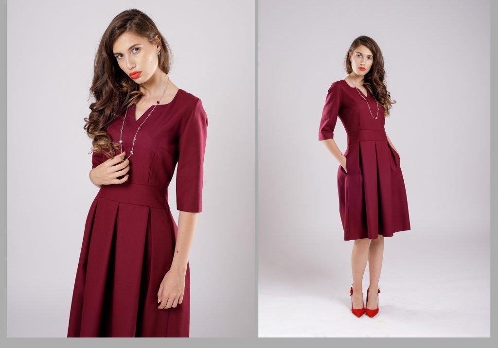 rochia burgundy culoarea vinului