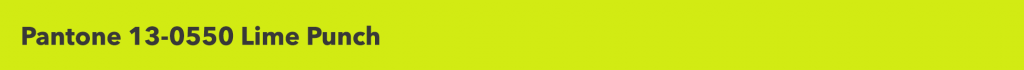 Pantone Lime Punch
