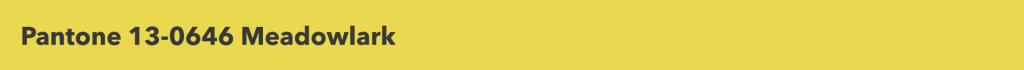 Pantone Meadowlark