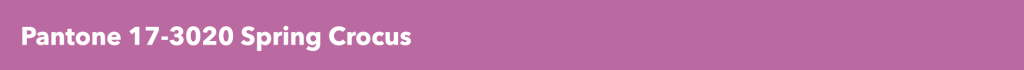 Pantone Spring Crocus