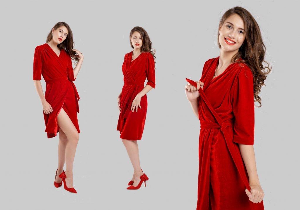 rochia roșie pentru cina romantica