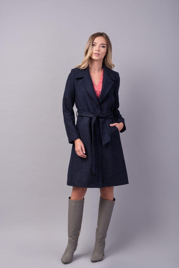 Palton din lana bleumarin STRENGHT