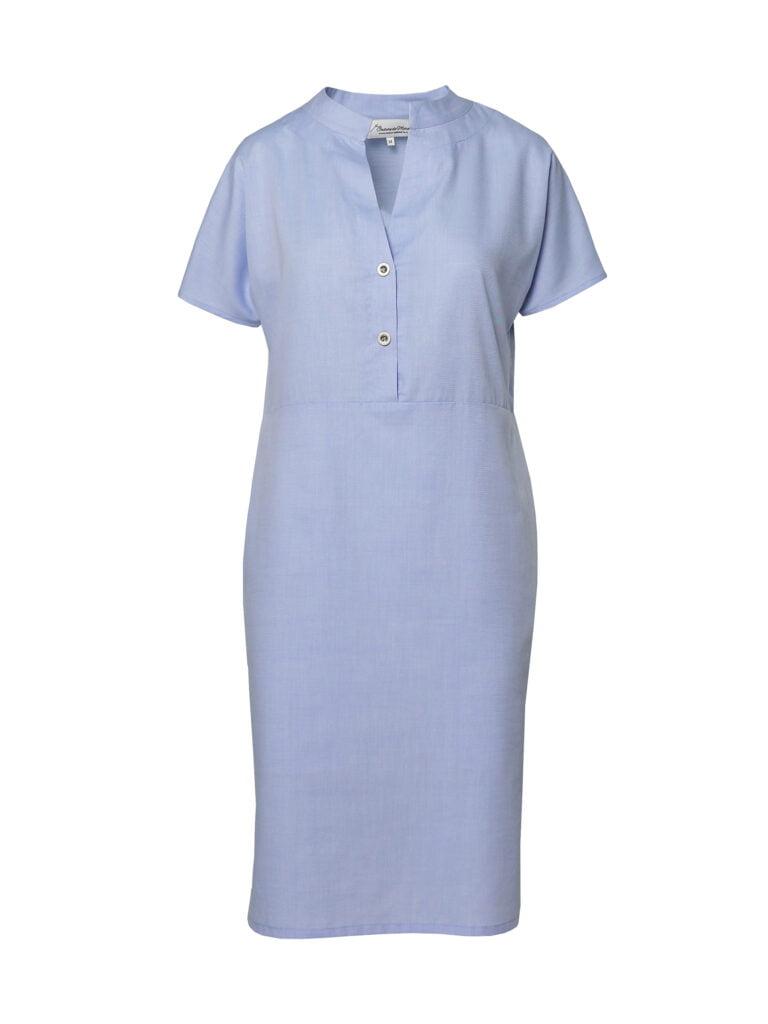 Rochie camașă din bumbac bleu Aisha