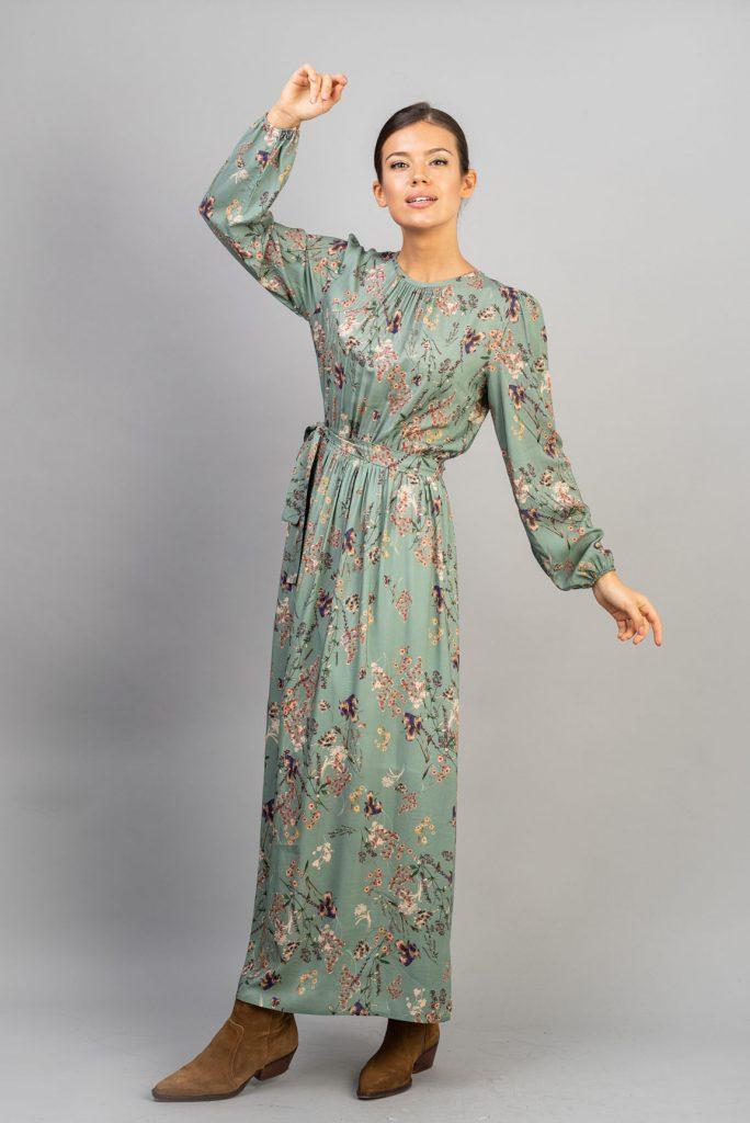 Rochie maxi din vascoza imprimata Rita