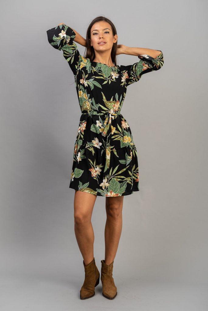 Rochie din vascoza imprimata Fatima