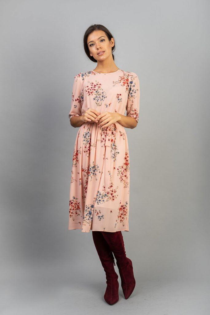 Rochie din voal  print floral Gracie